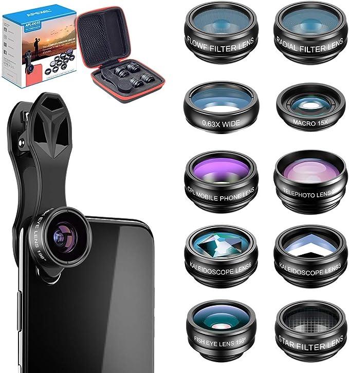 Apexel Apl Dg10 Objektiv Set Für Fotos 10 In 1 Für Kamera