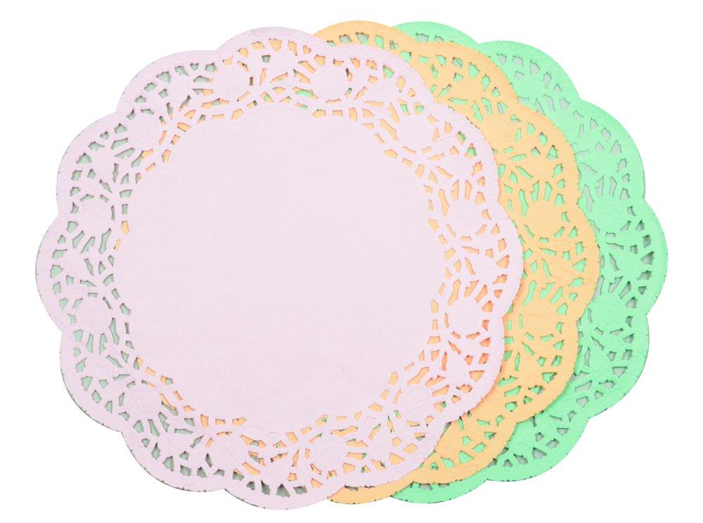 Parukinzoku arrange DECO color lace paper 28cm 15 pieces D-1144