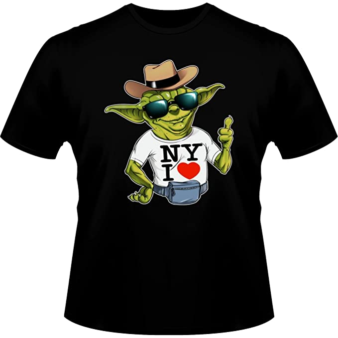Camisetas Star Wars humorística con Yoda - New York I Love (Parodia de Star Wars