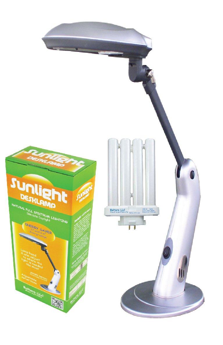 Sunlight Desk Lamp Natural Full Spectrum Sun Light. Simulates Daylight. 27 Watts power usage. SL5720RS