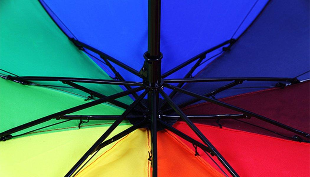 HorBous Triple Parapluie Pliable pour Un Temps pluvieux et ensoleill/é Arc-en-Umbrella 10 Rib Vent Cadre en Acier r/ésistant /à 10 Couleurs de Tissu de Parapluie