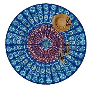 Manfâ Indian Feather Mandala Toalla De Playa PortáTil Redonda 150 Cm Resistente A La Arena SúPer Ligeray De Secado… | DeHippies.com
