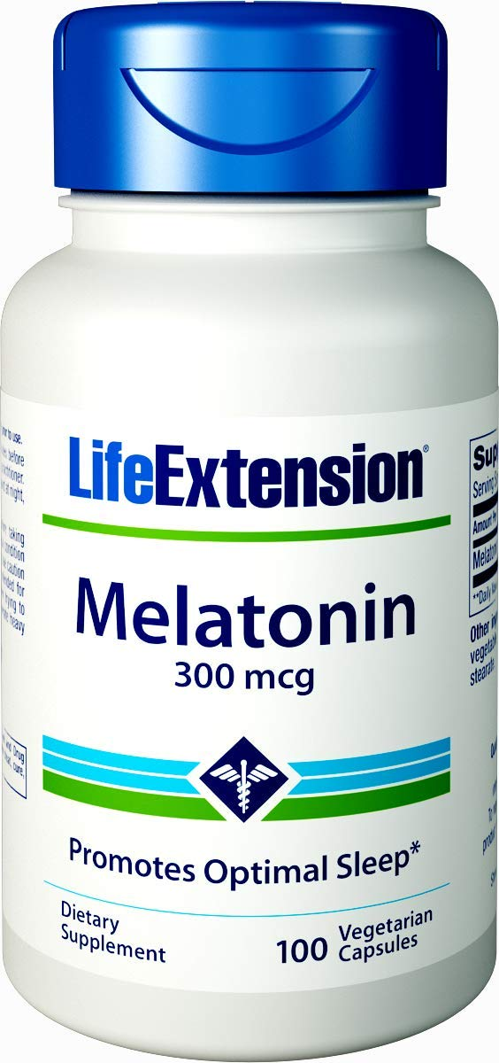 Life Extension Melatonin, 300 Mcg, 100 Capsules