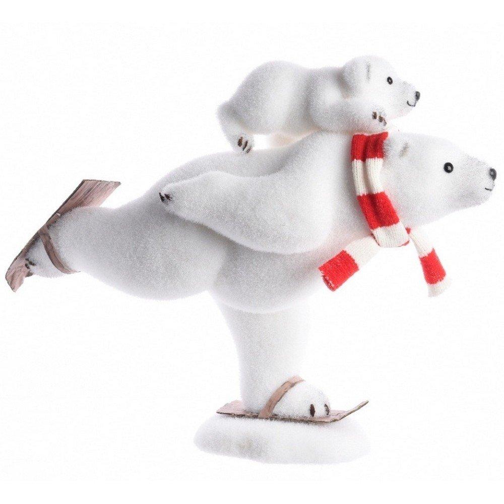 Adorno decorativo de gomaespuma con forma de Oso Polar esquiador (50 ...