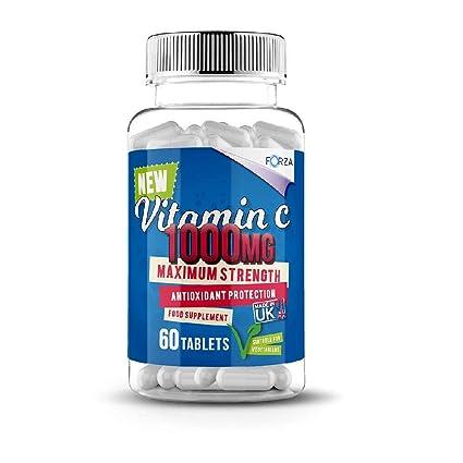 FORZA Tabletas de Vitamina C - Alta Resistencia 1000 mg Vitamina C - Vitamina C Cápsulas