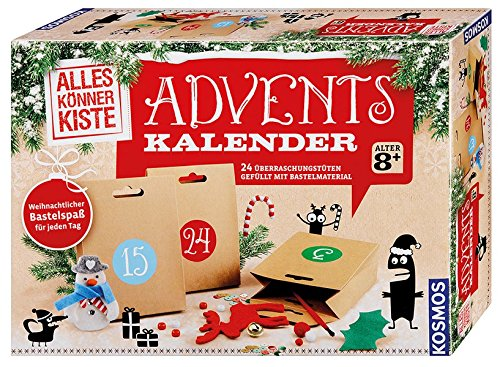 Kosmos 604295 - Basteln Adventskalender 2017 empfohlenes Alter: ab 8 Jahre Weihnachtskalender Bastelsets Handarbeitsets