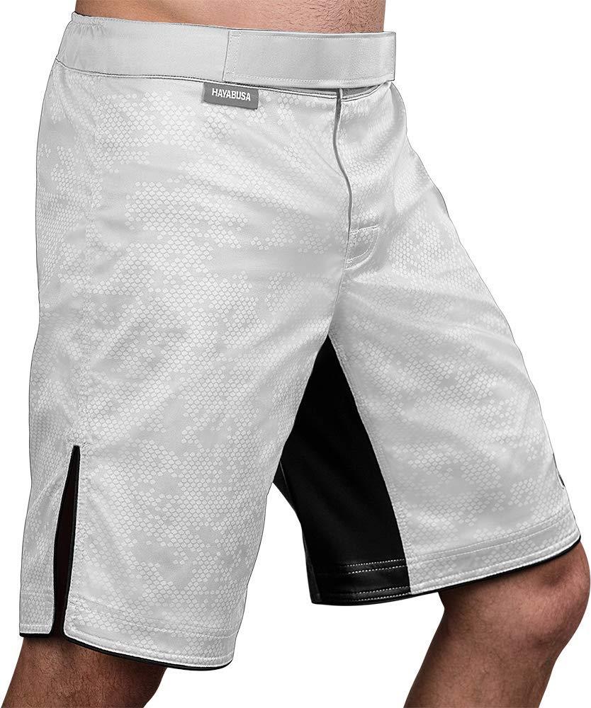 Hayabusa | Hexagon Board Style | Workout and MMA Training Shorts | White, Medium by Hayabusa