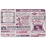 Memory Foam Bath Mat,Old Newspaper Decor,Collage of French Advertisements for Women Ladies NostalgicPlush Wanderlust Bathroom Decor Mat Rug Carpet with Anti-Slip Backing,Magenta Pink Purple