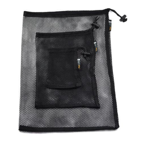 Bluecell Set of 3 Large/Medium/Small Size Mesh Storage Ditty Bag for Travel & Outdoor Activity