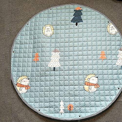 Firlar プレイマット ベビー子供用遊びマット おもちゃ収納マット 折り畳み可能 カラフル 可愛い 滑り止め 洗える 円形マット 柔らかい寝具 片付け便利 持ち運び 直径110cm
