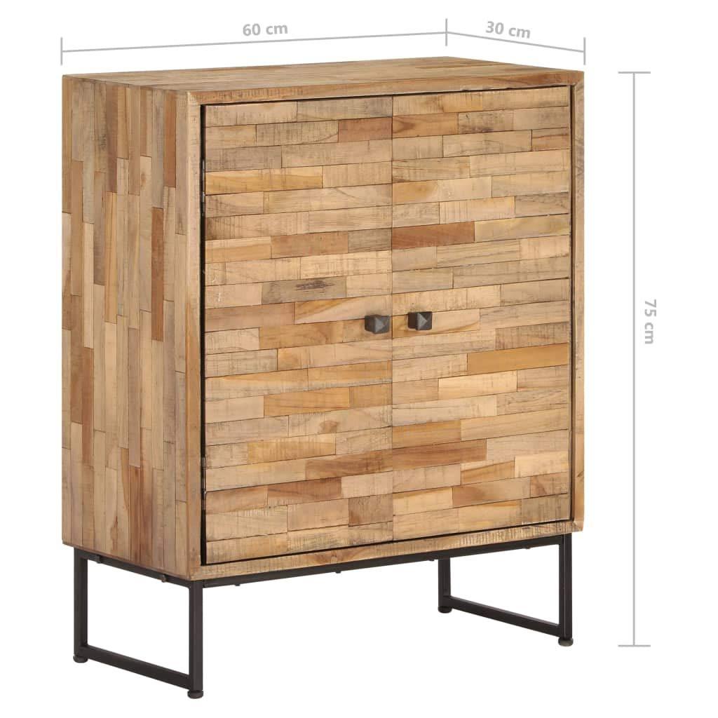 Buffet Bois Teck Meuble Rangement Buffet Armoire Rangement 60 x 30 x 75 cm Festnight