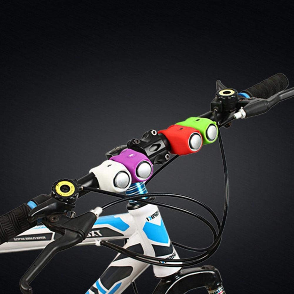 Bocina electr/ónica para Bicicleta Impermeable Color Negro Yunjiadodo