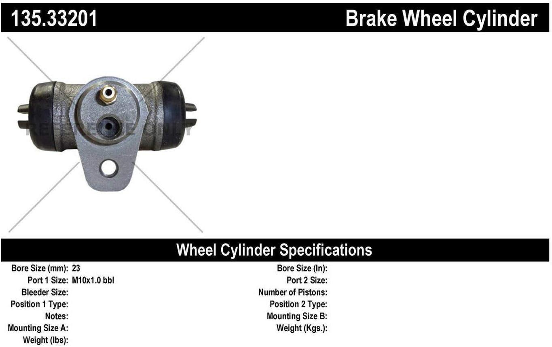 Centric Parts 135.33201 Standard Drum Brake Wheel Cylinder
