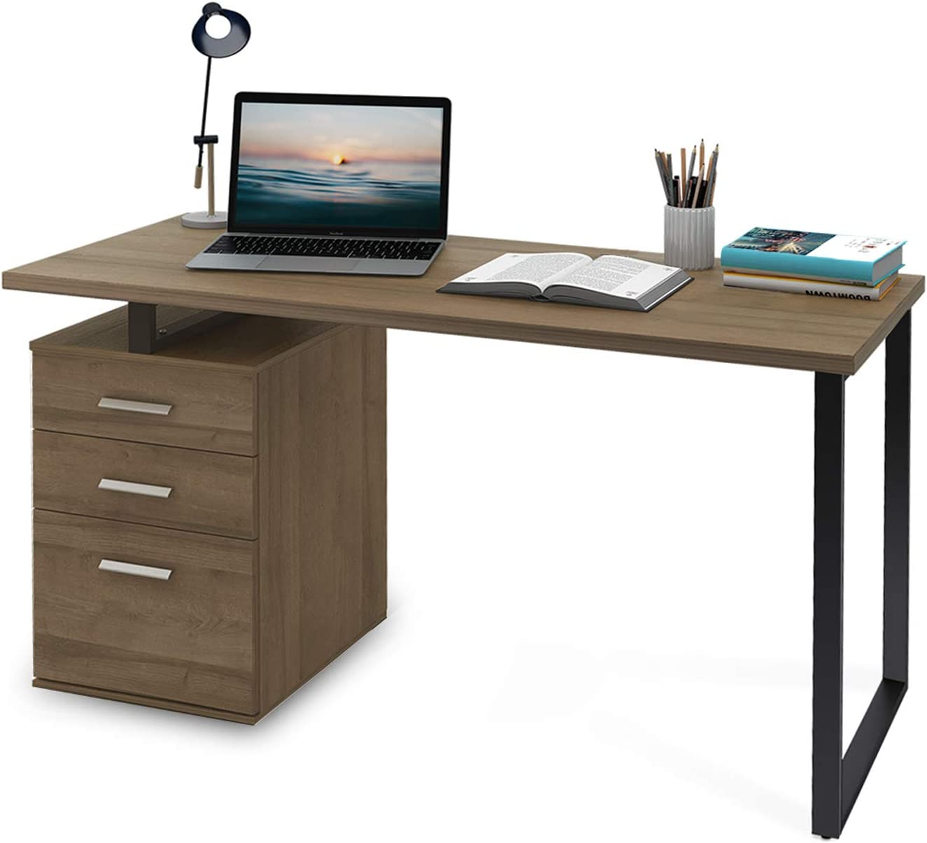 Amazon.com: DEVAISE Computer Desk with Drawer, 55 inch Home Office