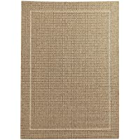 Pier 1 Imports Dobby Flat-Weave Tan 52x74 Indoor or Outdoor Patio Rug