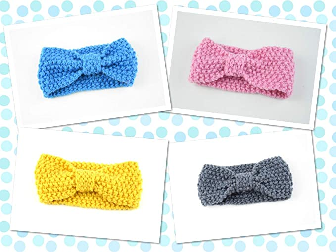 a60f596e74cb3 Image Unavailable. Image not available for. Color  BABY Headbands Wool Bow  Winter Soft and Comfortable Material for Baby Newborn Rose Gold ...