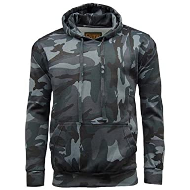 9d78233e329ec Men's Game Camouflage Camo Fleece Hoodie Top Jumper Pullover Fishing Hunting  Camping: Amazon.co.uk: Clothing