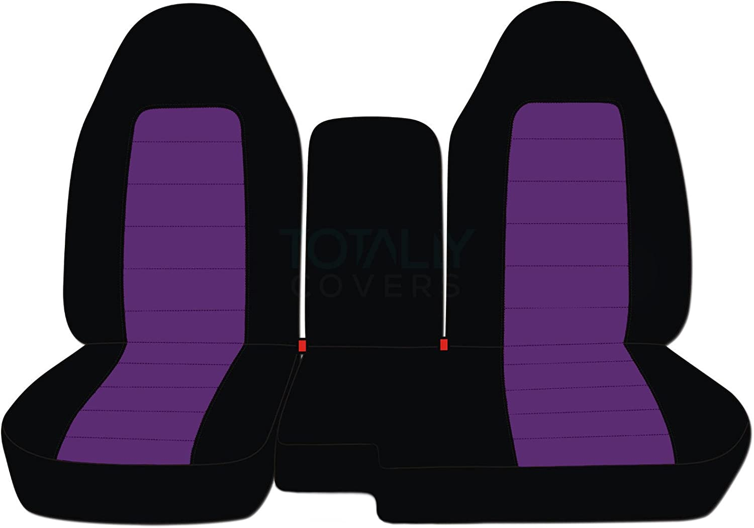 w Center Armrest//Console Cover: Black /& Dark Blue Totally Covers Compatible with 2004-2012 Ford Ranger//Mazda B-Series Two-Tone Truck Seat Covers 60//40 Split Bench 21 Colors