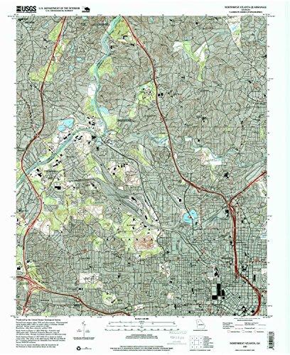 Northwest Atlanta GA topo map, 1:24000 scale, 7.5 X 7.5 Minute, Historical, 1997, updated 1999, 26.9 x 22 IN - - Avenue The Ga