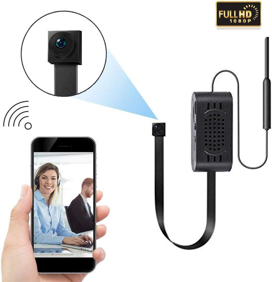 WiFi Hidden Spy Camera HD 1080P Mini Camera Security Camera Wireless Camera with Motion Detection Nanny Cam for iPhone Android Phone Pc