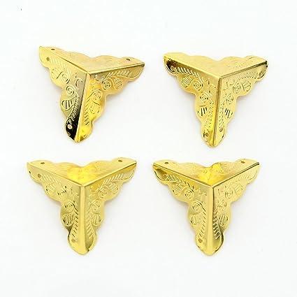 Amazon.com: eMylo 25mm Antique Golden Box Corner Protectors ...