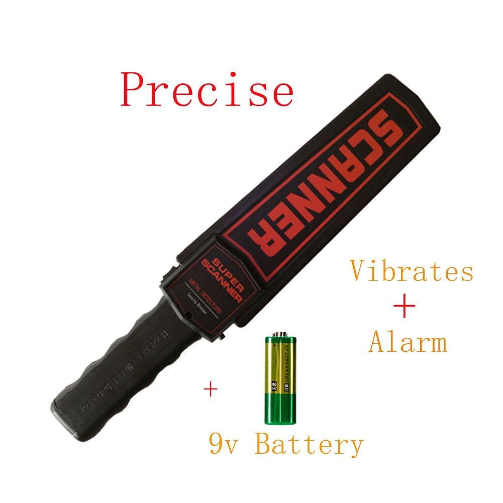 Generic de mano detector de metales escáner de cena alta precisión de uñas Sonda detector de metal Seguridad Alarma sensible escáner con recargable: ...