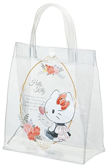 78e6af31b1d4 Image Unavailable. Image not available for. Color  Skater clear tote bag  lunch back Hello Kitty ...