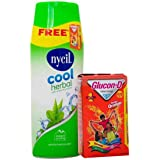 Nycil Cool Gulabjal Powder, 150g With Glucon-D Instant Energy Orange, 100g