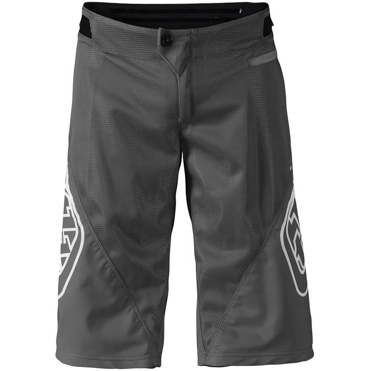 Troy Lee Designs Sprint Solid Youth Off-Road BMX Cycling Shorts - Gray / 22 by Troy Lee Designs
