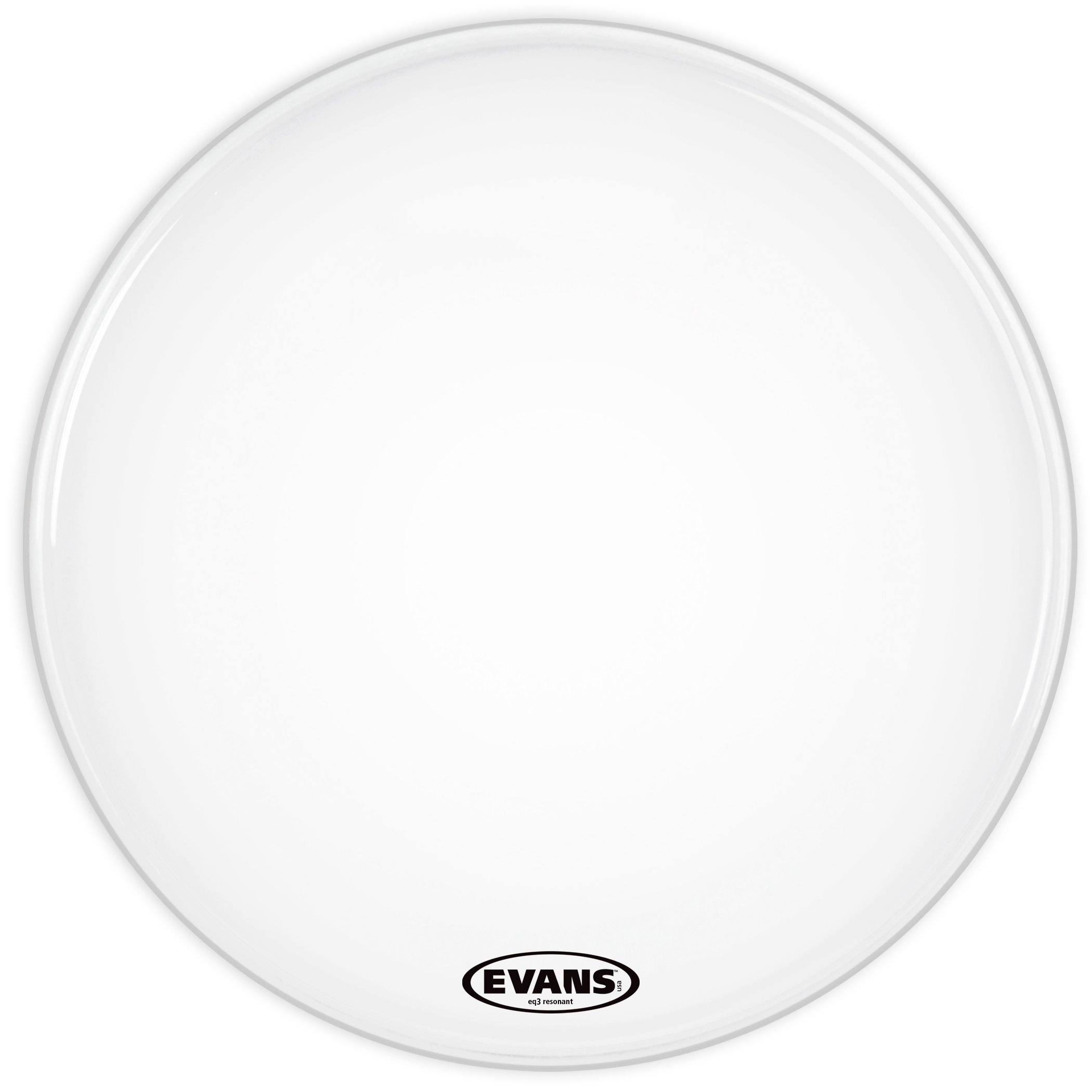 Evans Heads BD20RGCW-NP 20-Inch EQ3 Resonant Coated Bass Drum Heads - White