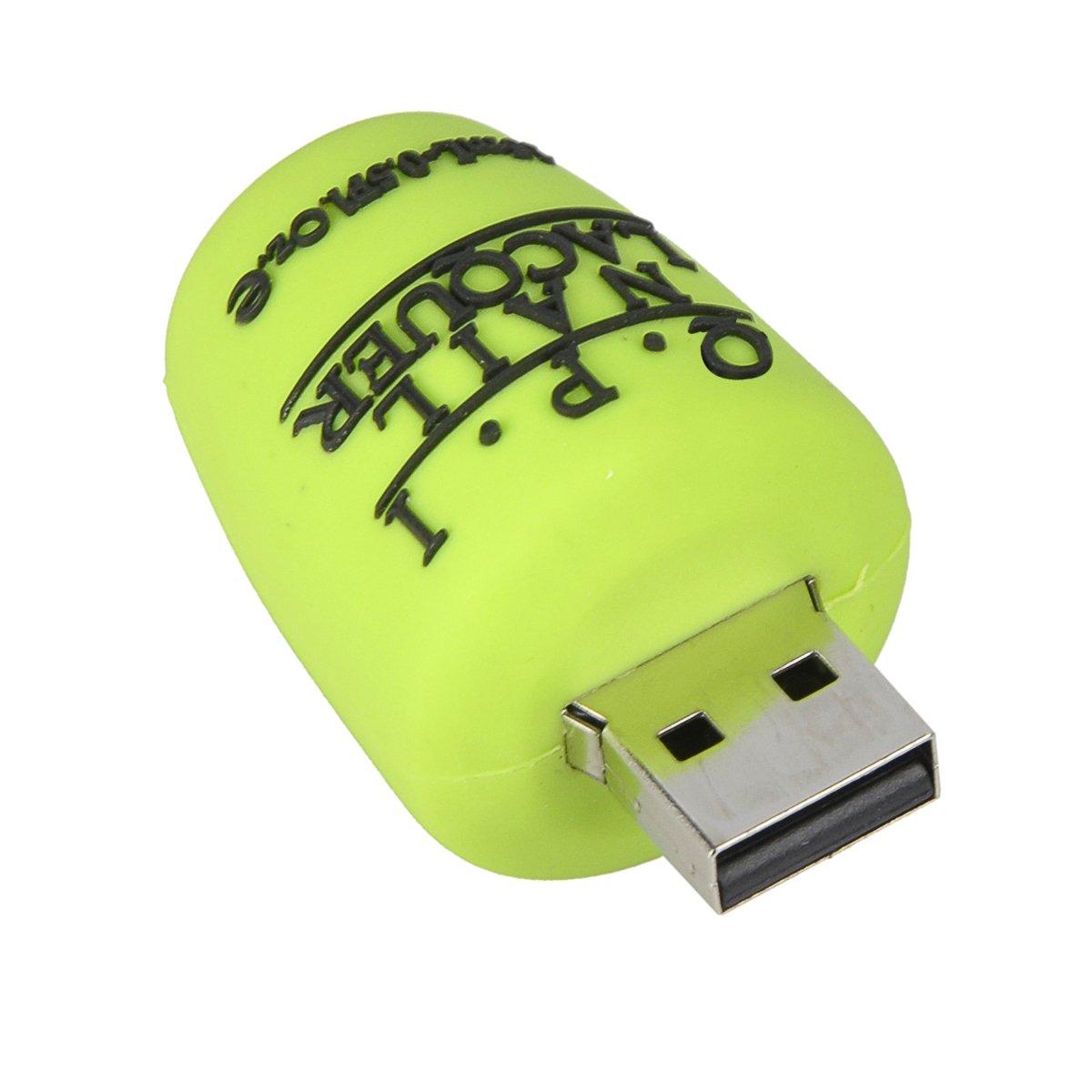 SUNWORLD 16GB USB Stick 2.0 Speicherstick Nagellack Novelty Original Nail Polish Flasche Grün für kinder mädchen