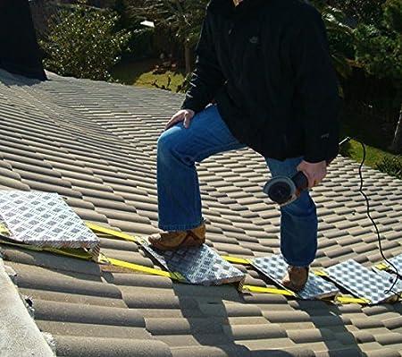 Tejaflex - Escalera para tejados plegable, flexible, aluminio, 3 metros empalmables.: Amazon.es: Bricolaje y herramientas