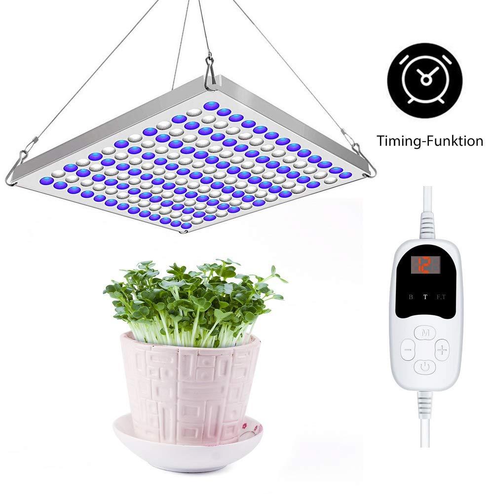 Roleadro 75W Lampe Led Horticole Croissance avec Timing-Funktion, Panneau Led Culture Indoor pour Plante Croissance, Led Growing Lamp Hydroponique éclairage pour Germination
