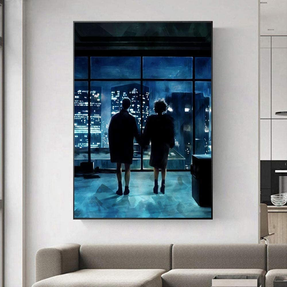 Fight Club Canvas Art Poster and Wall Art Picture Print Modern Family Bedroom Decor (24x32 inch,Framed)