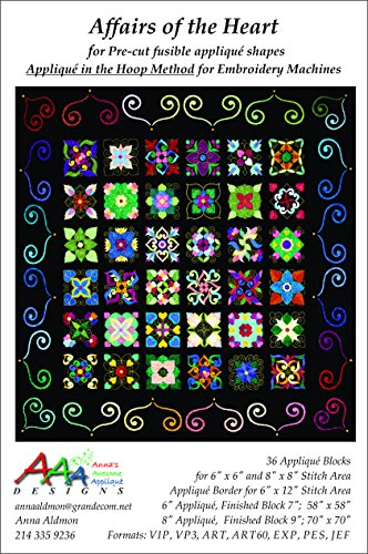 Affairs of the Heart Embroidery Machine Applique Designs