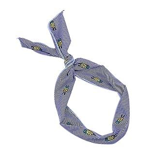 Kanggest - fascia per capelli con fiocco, da donna, a righe, colore blu, adatto anche come foulard per il collo o per il polso Un tamaño rosso