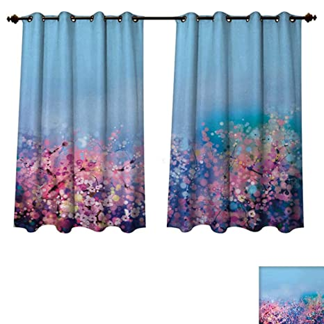 Amazon Com Anzhouqux Flower Blackout Curtains Panels For Bedroom