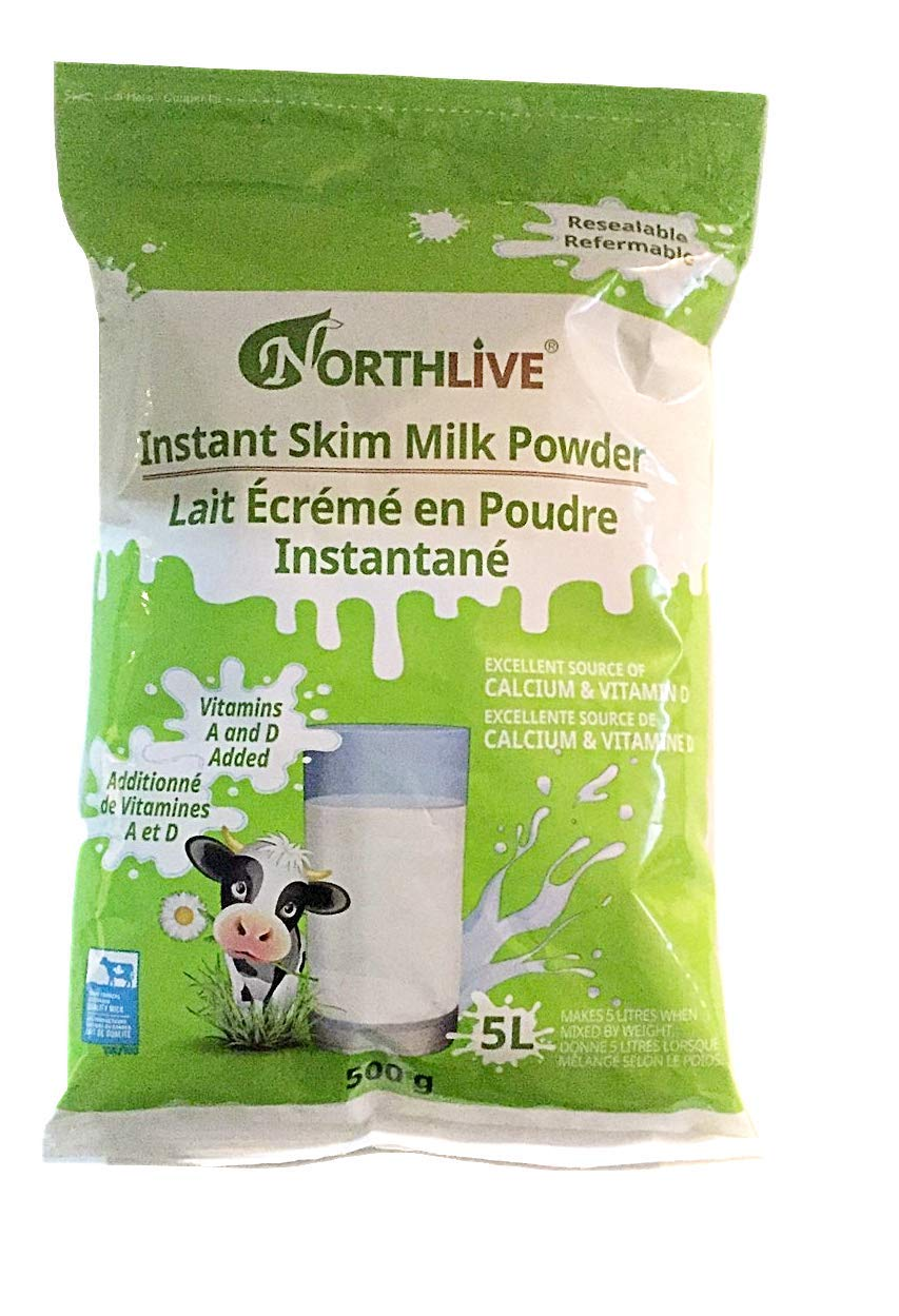 NORTH LIVE Adult Instant Skim Milk Powder-Vitamin A and D added 500g (1 Bag)