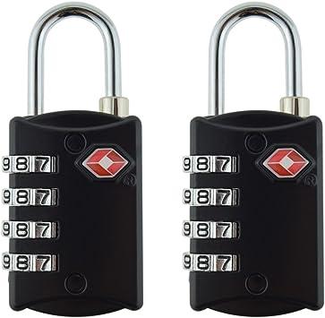 FST TSA Equipaje Locks (2 Pack) – 4 dígitos combinación acero candados – aprobado viaje cerradura para maletas y equipaje: Amazon.es: Bricolaje y herramientas