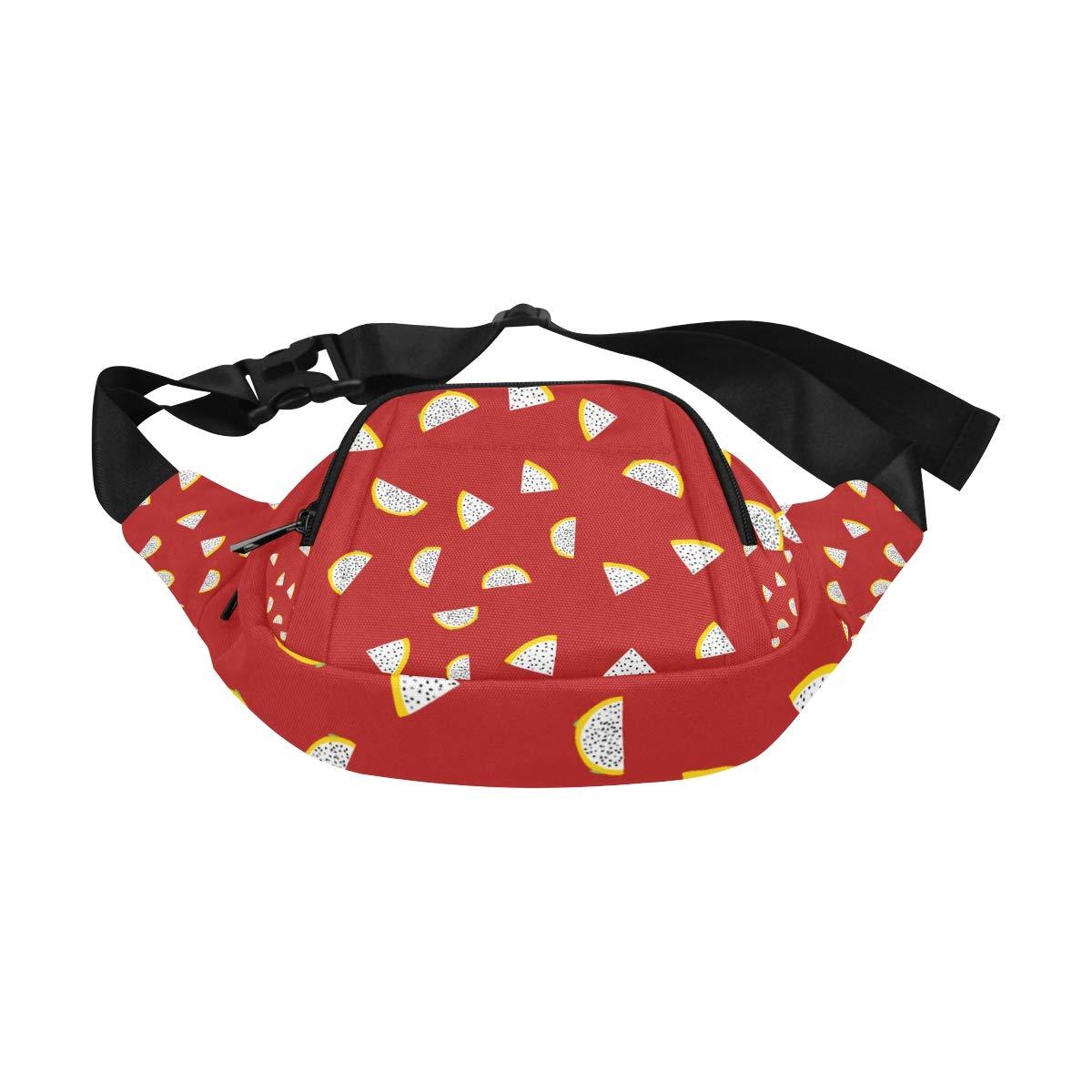 Hand Drawn Watercolor Dragon Fruits Fenny Packs Waist Bags Adjustable Belt Waterproof Nylon Travel Running Sport Vacation Party For Men Women Boys Girls Kids