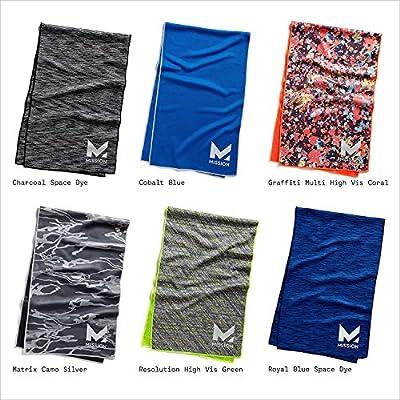 Mission HydroActive Premium Techknit Large Cooling Towel Royal Blue Space Dye