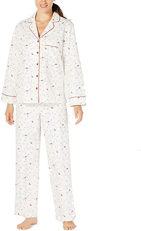 Charter Club Womens L Nightgown 100/% Cotton Long Sleeve Gown Sleepwear NEW