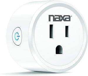NAXA Electronics Nsh-1000 Wi-Fi Smart Plug, Compatible with Smart Life, Amazon Alexa, Google Home, and Ifttt