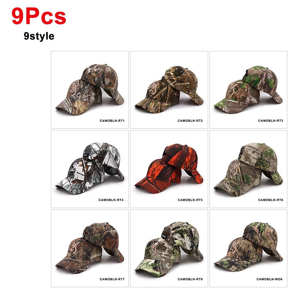 9パック野球帽 - ブラウン迷彩野球帽釣り帽子男性の屋外狩猟迷彩ジャングルキャップエアガン戦術的な登山ドレス帽子146,2  2 B07T1WFWCB
