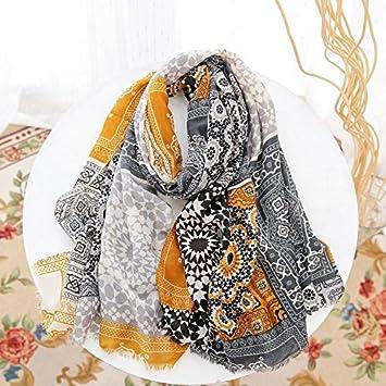 90 * 180cm YRXDD Seide Sonnencreme Strand Handtuch Dame Variety Schal Dual-Use-Druck Schal