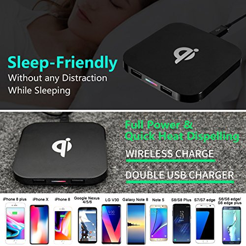 free shipping CC Show Qi Wireless Charger Mat, Portable