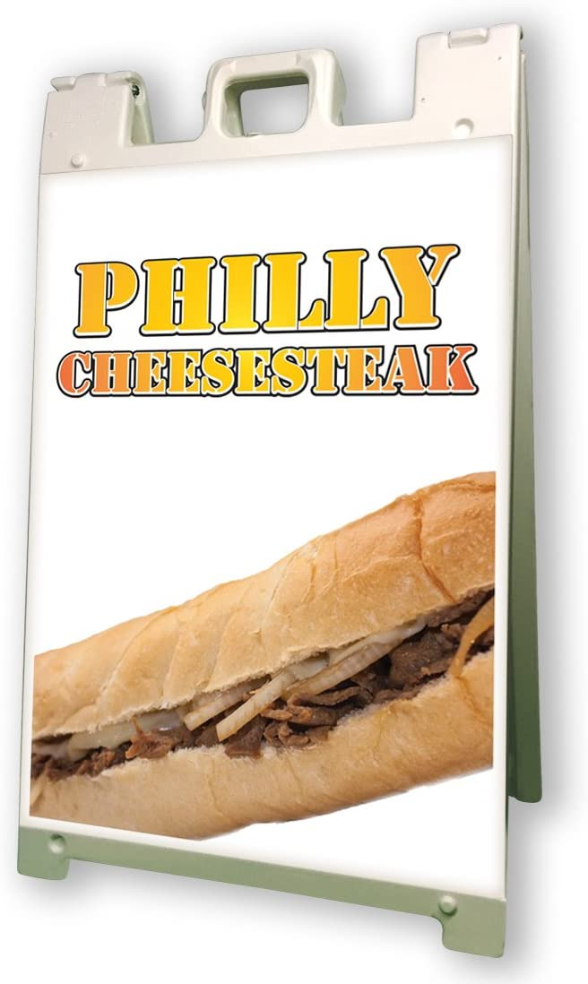 Philly Cheesesteak Sidewalk Sign Retail A Frame 24x36 Concession Outdoor