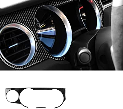 Carbon Fiber Front Reading Light Lamp Cover Trim Black For Ford Mustang 2009-13