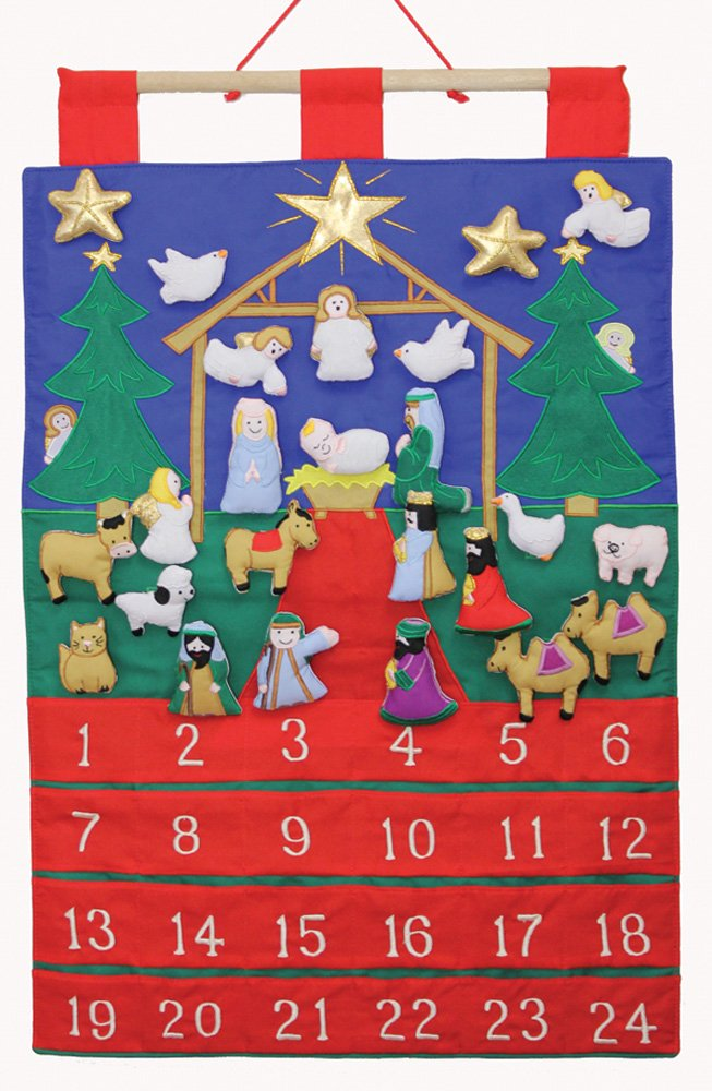 Tidings of Joy Fabric Advent Calendar (Countdown to Christmas) Vermont Christmas Company VC206