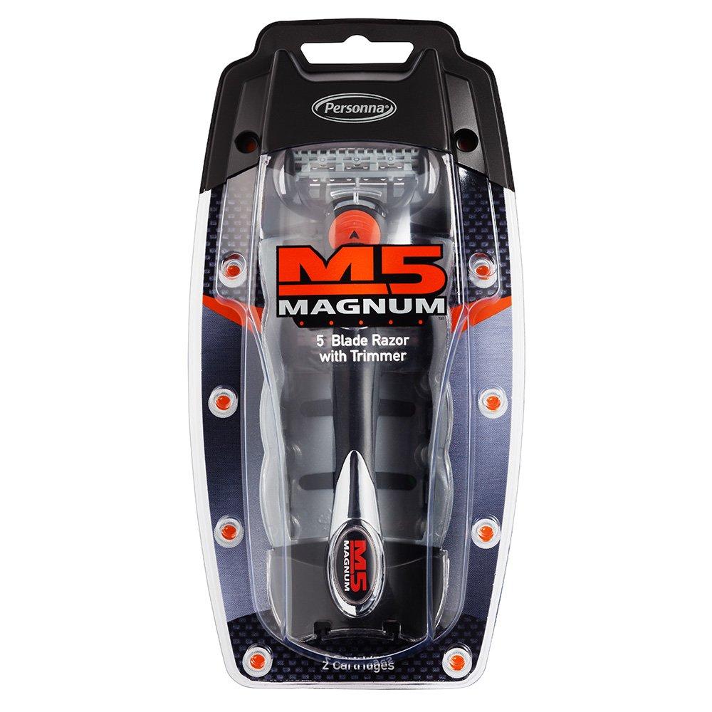 M5 Magnum 5 Blade Razor with Trimmer in Travel Case